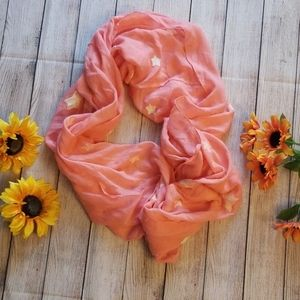 Coral infinity scarf.
